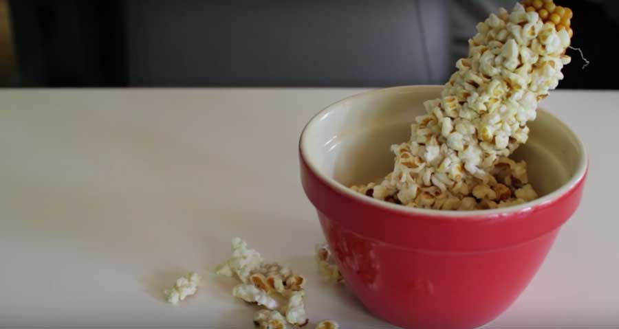 Microwave hack turns corn on the cob to popcorn on the cob watch