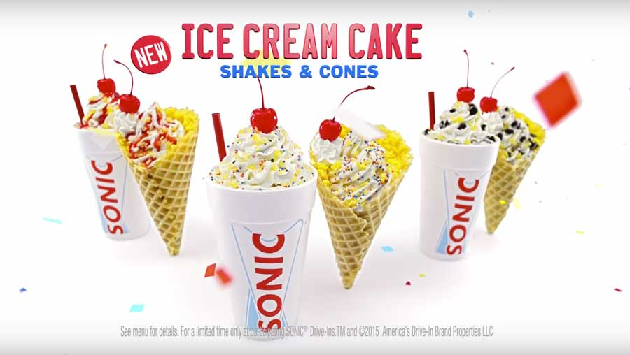 Sonic Ice Cream Cake Cover