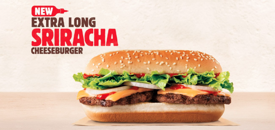 BK Sriracha Cheeseburger Long