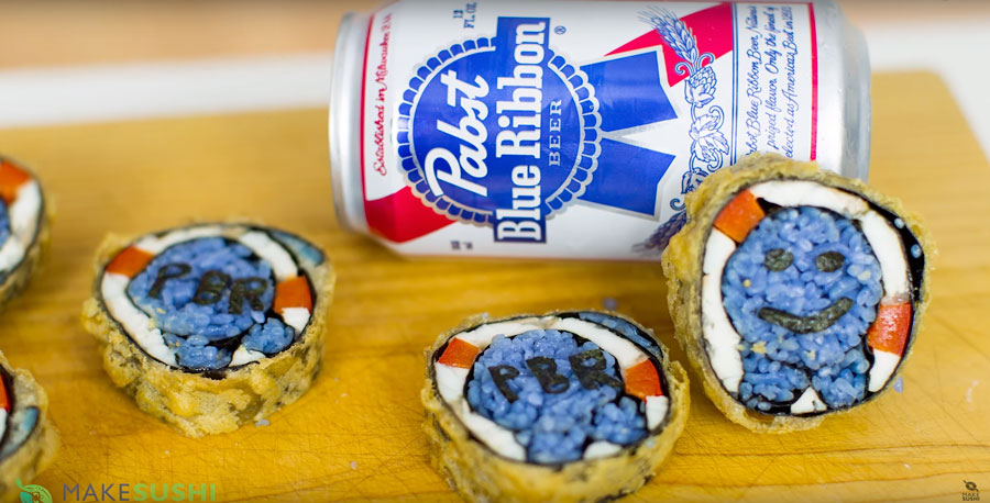 How To Make PBR Sushi Rolls That Are Battered In Booze And Love [WATCH]