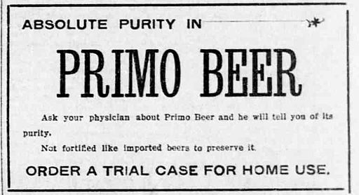 Primo_Beer_Ad_1901