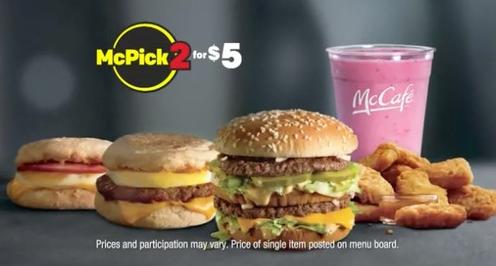Mcdonald 39 s mcpick 2 menu to feature big macs mcnuggets for Mcdonalds fish fillet deal