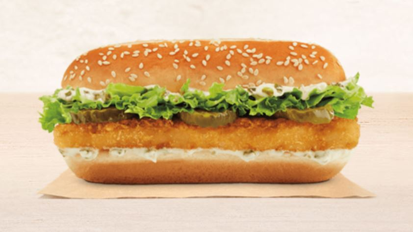 Burger king introduces an extra long fish sandwich for Burger king big fish