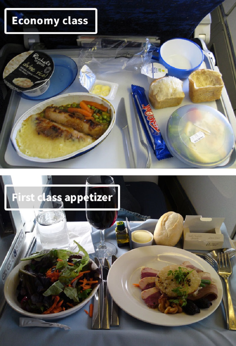 Airplane Food Economy Vs First Class Meals On 19 Airlines