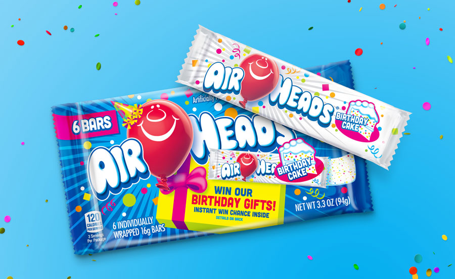 Airheads Candy Adds New Birthday Cake Flavor Because...You Guessed It