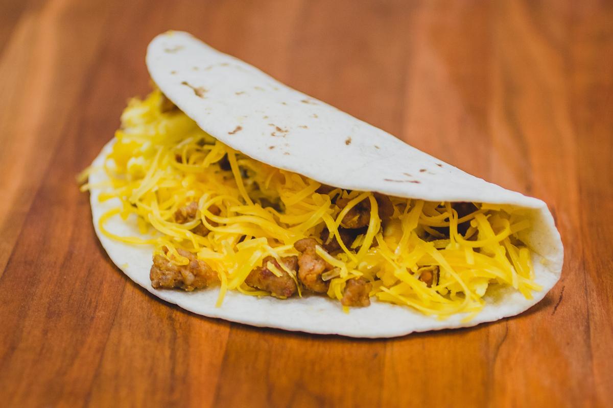 chorizo breakfast taco