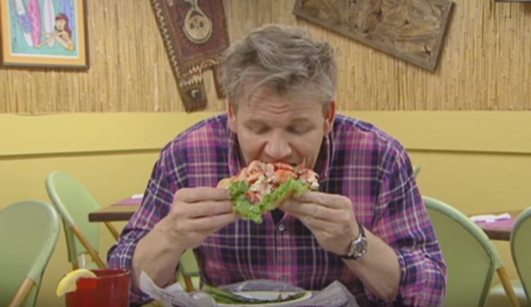 Watch Gordon Ramsay Flip Out Over Too Much Lobster In His Roll