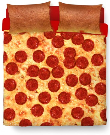 pizza bedsheets