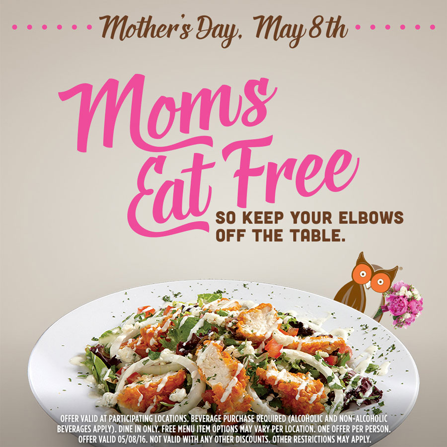 All The Free Food To Get Your Mom On Mother's Day