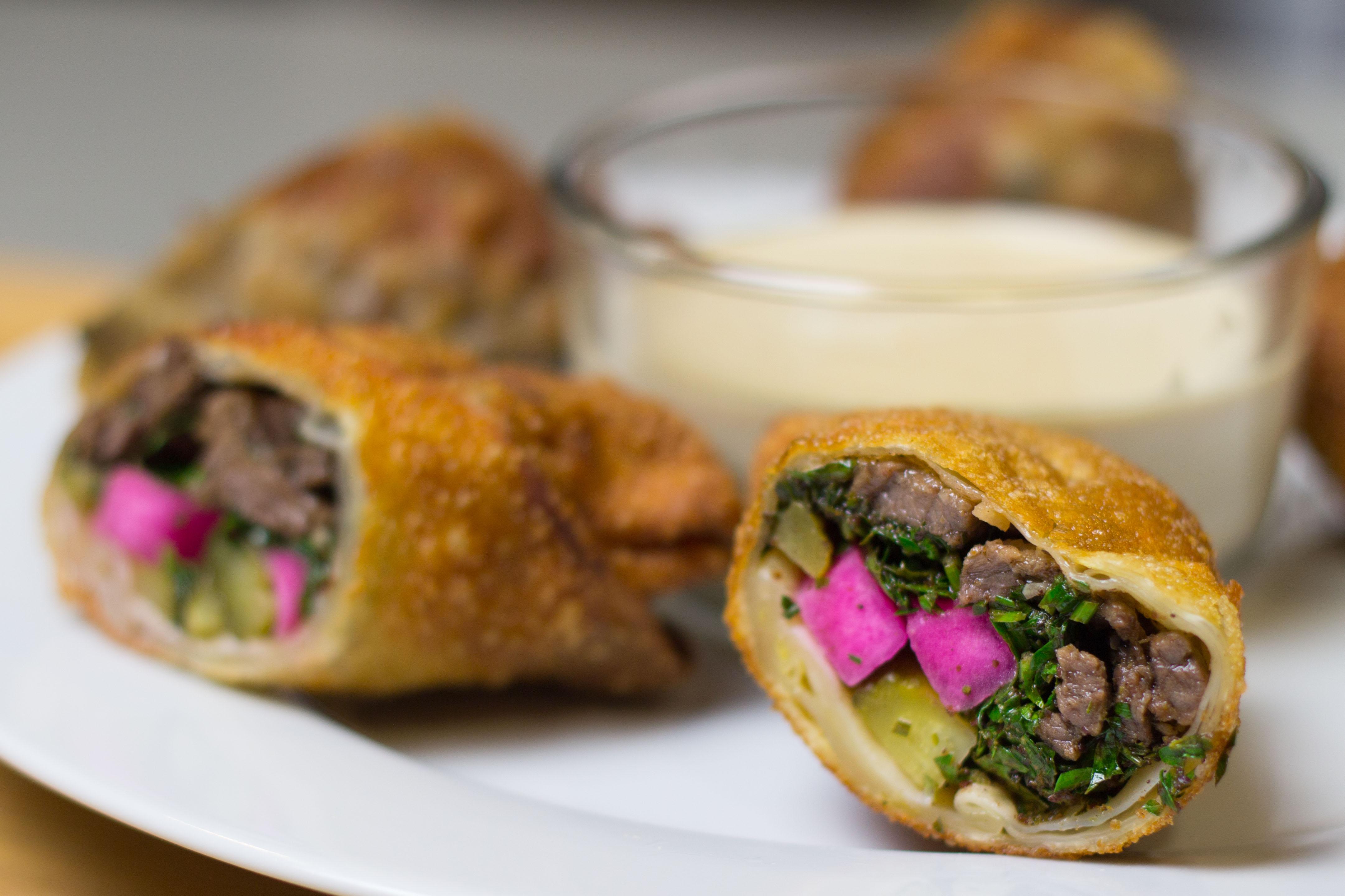 shawarma egg rolls