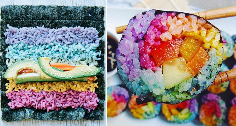 Rainbow Sushi On Instagram Has Become The Latest Colorful Food Trend