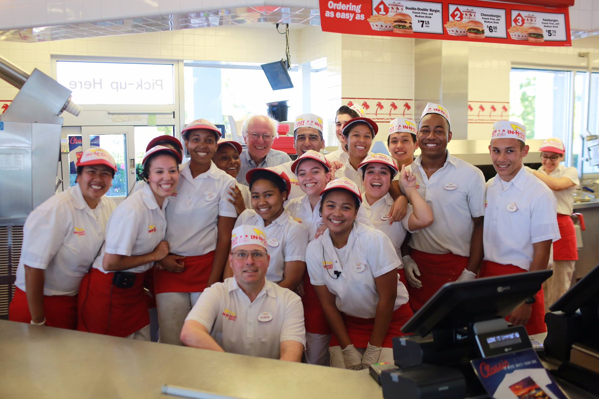 Bernie Sanders And His Magical Trip To In-N-Out Burger