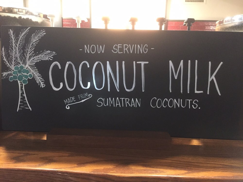 Coconut Milk Sign