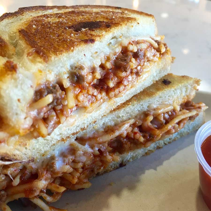 Instagram Is Raging Over These Spaghetti Grilled Cheese Sandwiches