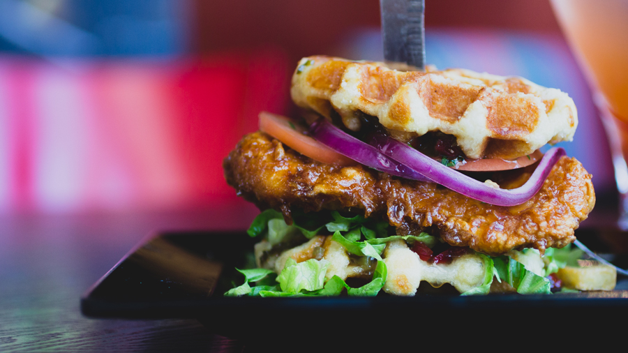 This CHICKEN AND WAFFLE BURGER Is Red Robin's Latest Masterpiece