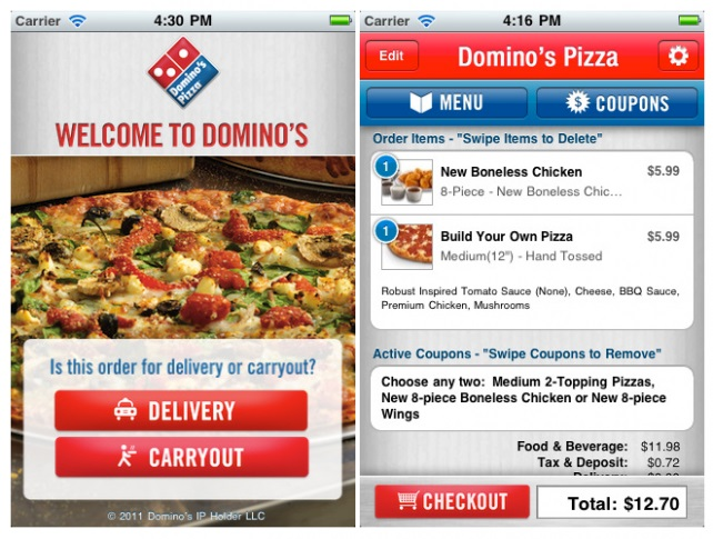 Dominos WEbsite