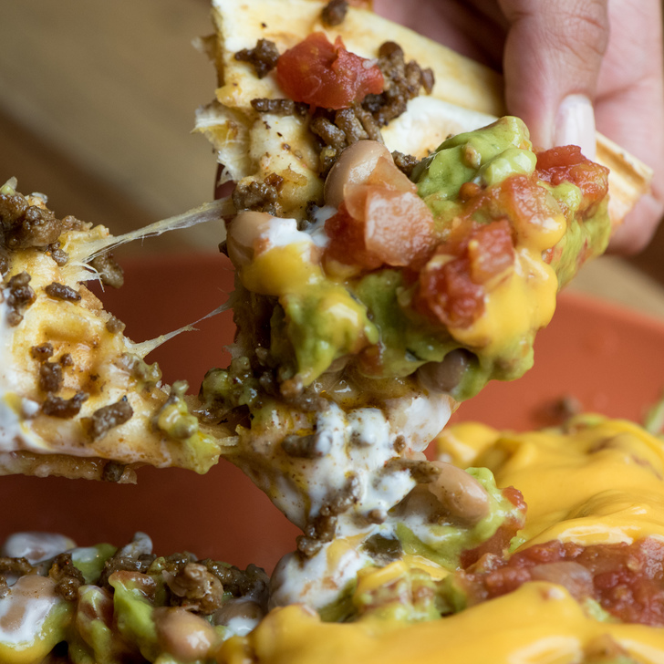 Check Out This Totino's Stuffed Nachos Waffle Quesadilla