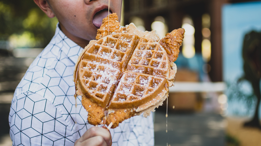 Chicken-In-Waffle