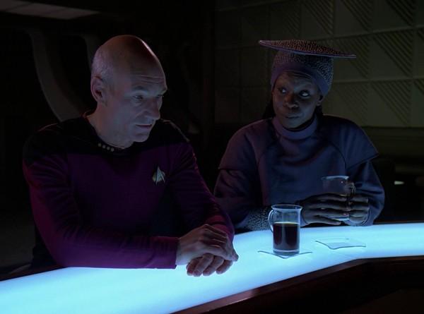 [Whoopi Goldberg as Guinan on Star Trek: The Next Generation]
