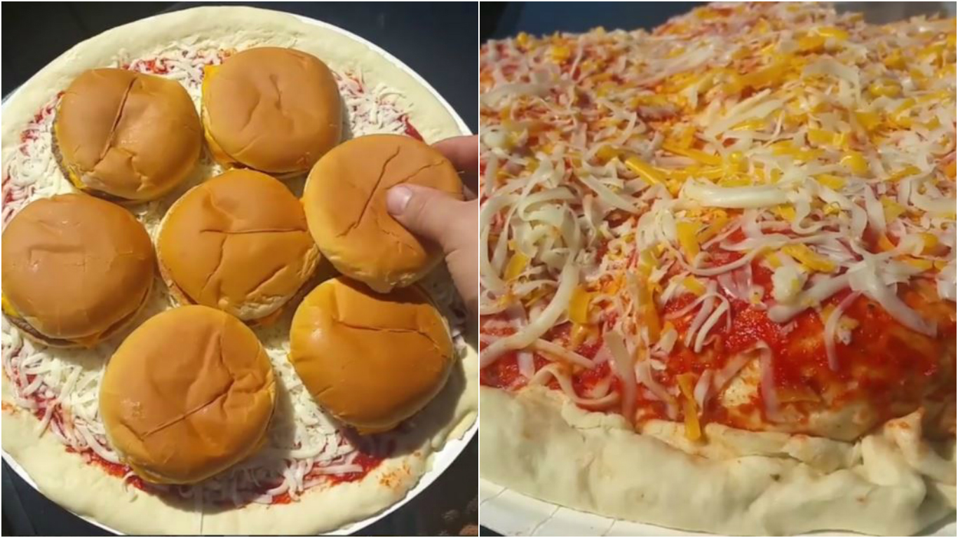 Madman Makes A Mcdonalds Cheeseburger Stuffed Deep Dish Pizza