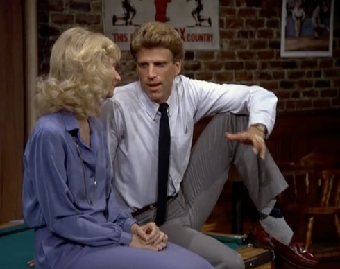 [Ted Danson as Sam Malone on Cheers]