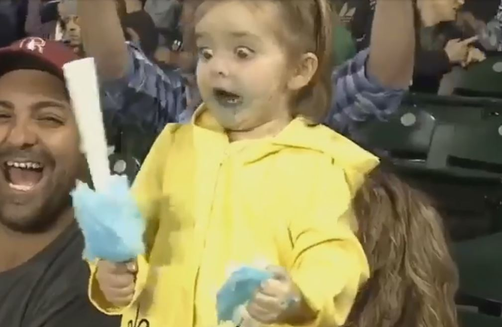 This Adorable Little Girl Gets The Most Intense Sugar Rush -3939