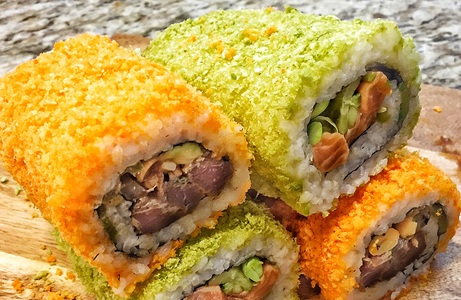 How To Make A Cheetos-Crusted Sushi Burrito At Home
