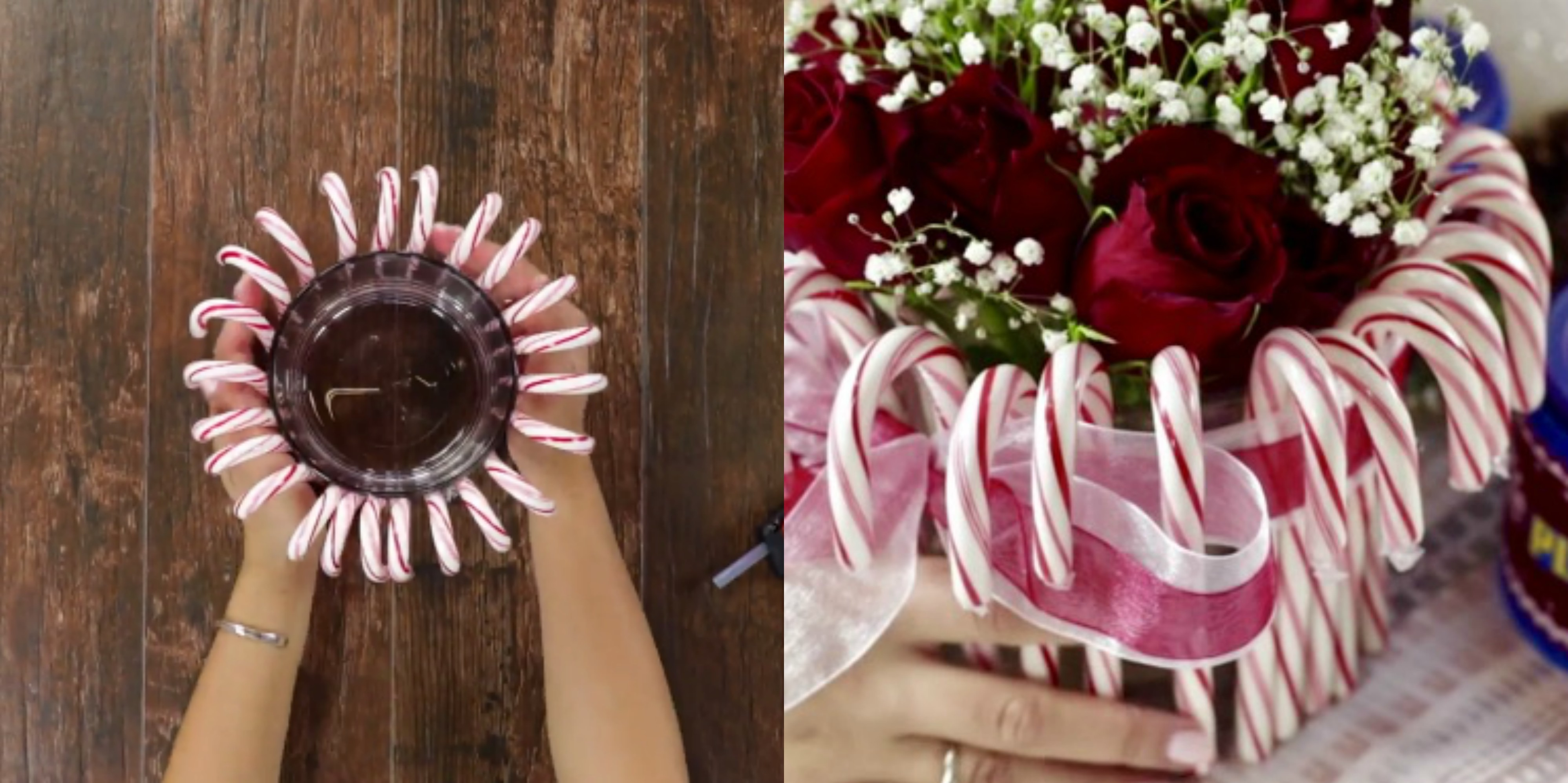How To Make A Cute Holiday Centerpiece With CANDY CANES