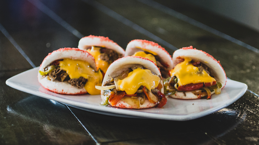 the-kroft-hot-cheetosteak-bao