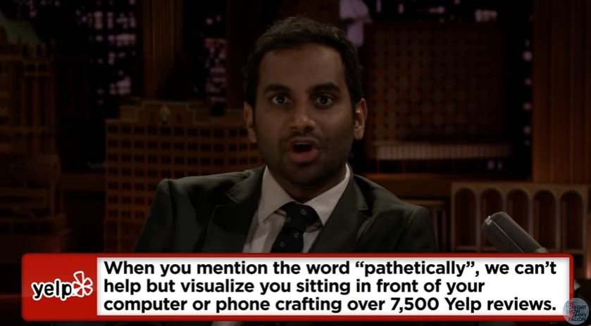 Aziz Ansari Reads Savage Restaurant Responses To Nasty Yelpers