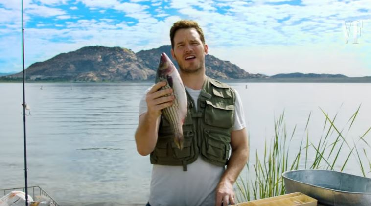 Chris Pratt Teaches How To Properly Clean And Gut A Fish