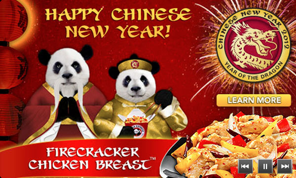 today only panda express - Panda Express Chinese New Year