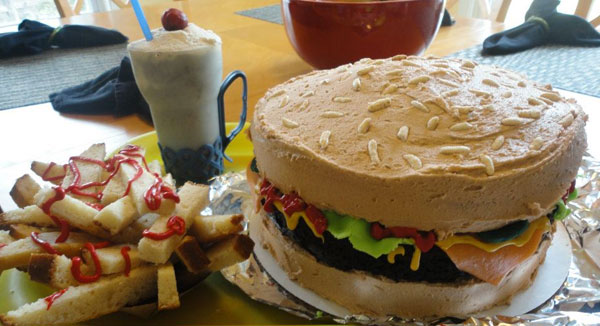 Hamburger Fries and ShakeGet the Birthday Cake Treatment