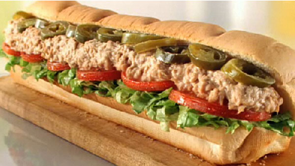 Subway's Featured $5 Footlong for March -- Jalapeño Tuna
