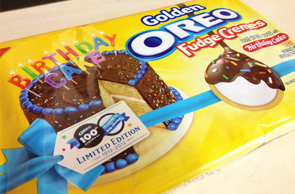 OREO Unveils a Golden Fudge Creme Cookie With Birthday Cake Filling