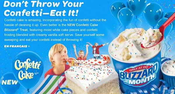 Cake Batter Flavor Trend Continues Dairy Queen Announces A Confetti