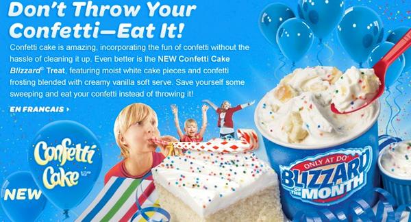 Cake Batter Blizzard