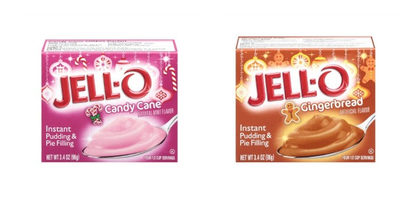 Holiday Candy Cane And Gingerbread Flavored Jell O Pudding