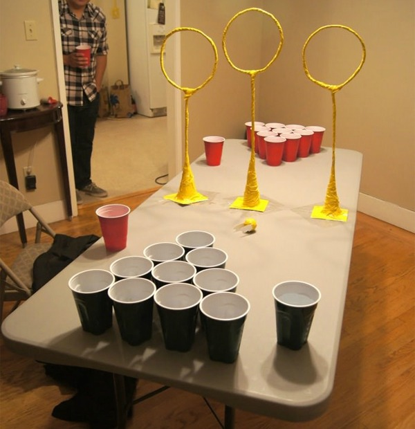 So quidditch pong is a thing here are the rules for Table quidditch