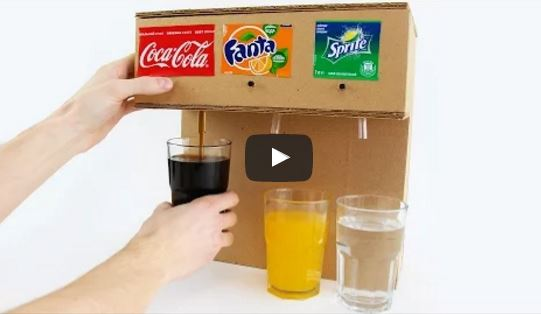 How To Make A Soda Fountain At Home Using Cardboard Watch