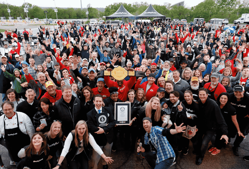 "Smithfield Guinness World Record Attempt for ""Largest Grilling Lesson"""