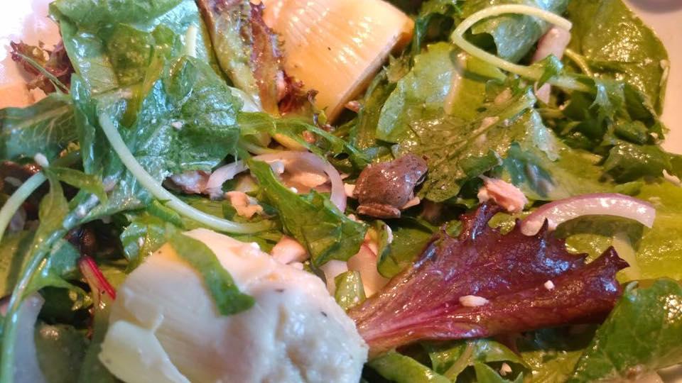 live frog salad