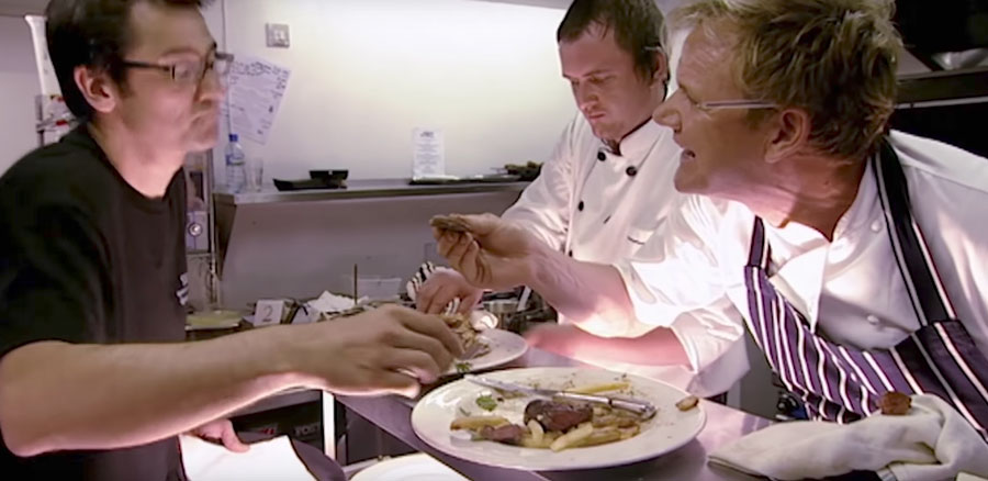 Watch the differences between gordon ramsay 39 s kitchen for Kitchen nightmares uk