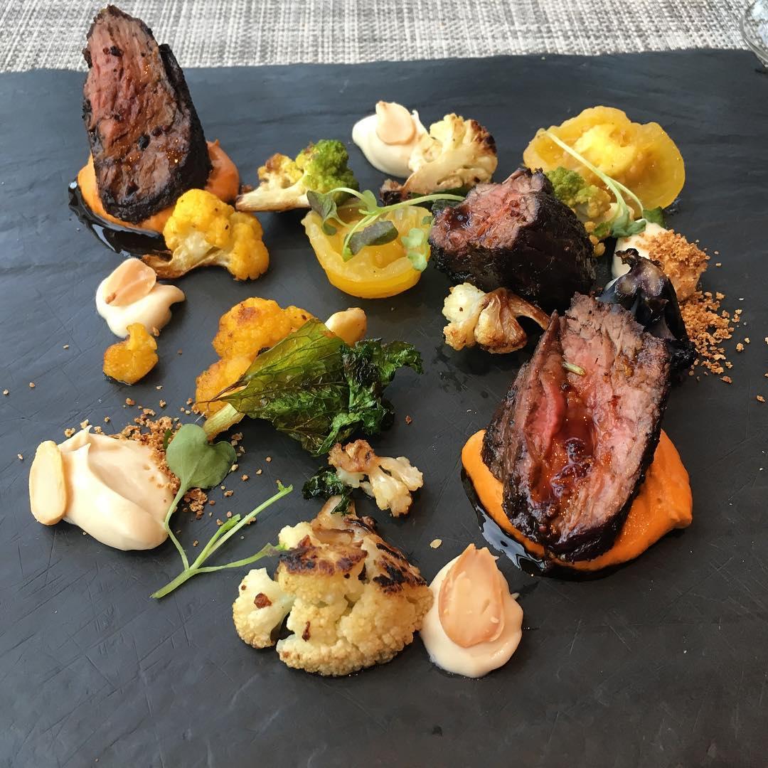 trump hotel steak dish