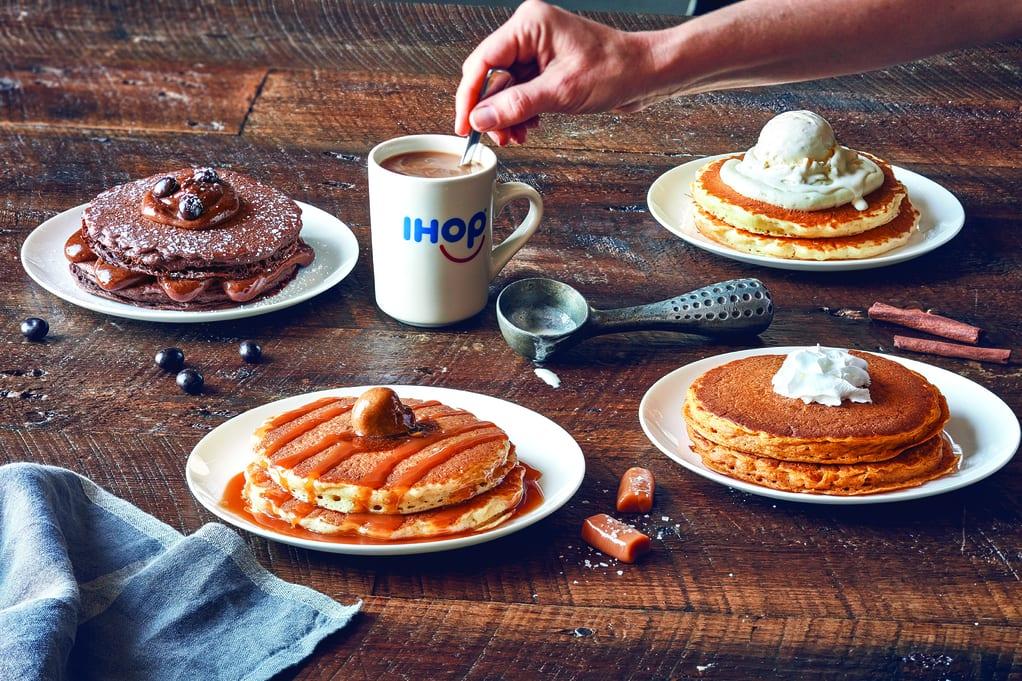 latte-inspired pancakes