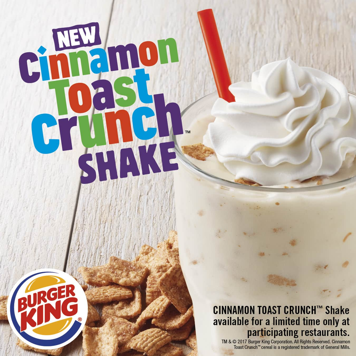 Burger King Drops A Cinnamon Toast Crunch Shake Made For