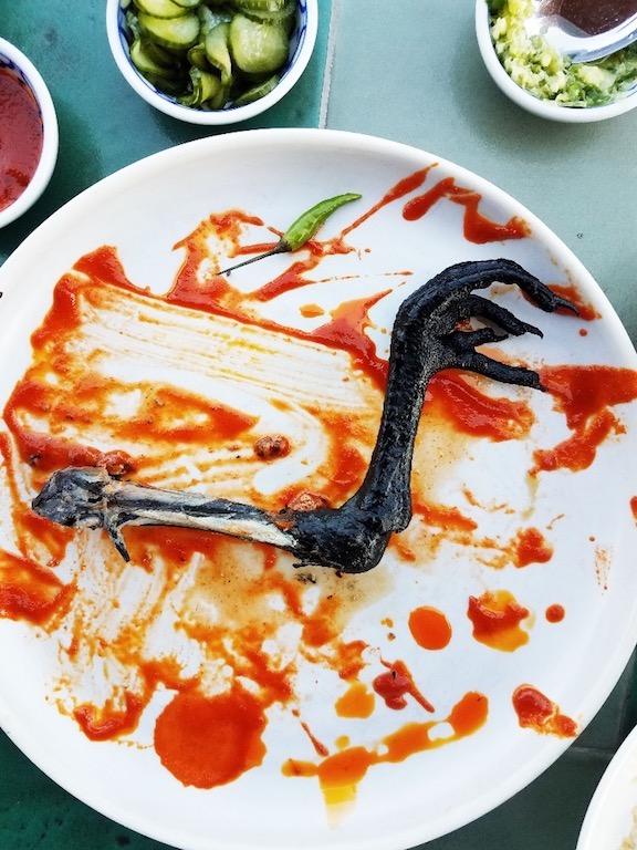 E.P. all black chicken