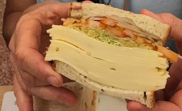 mile-high cheese sandwich