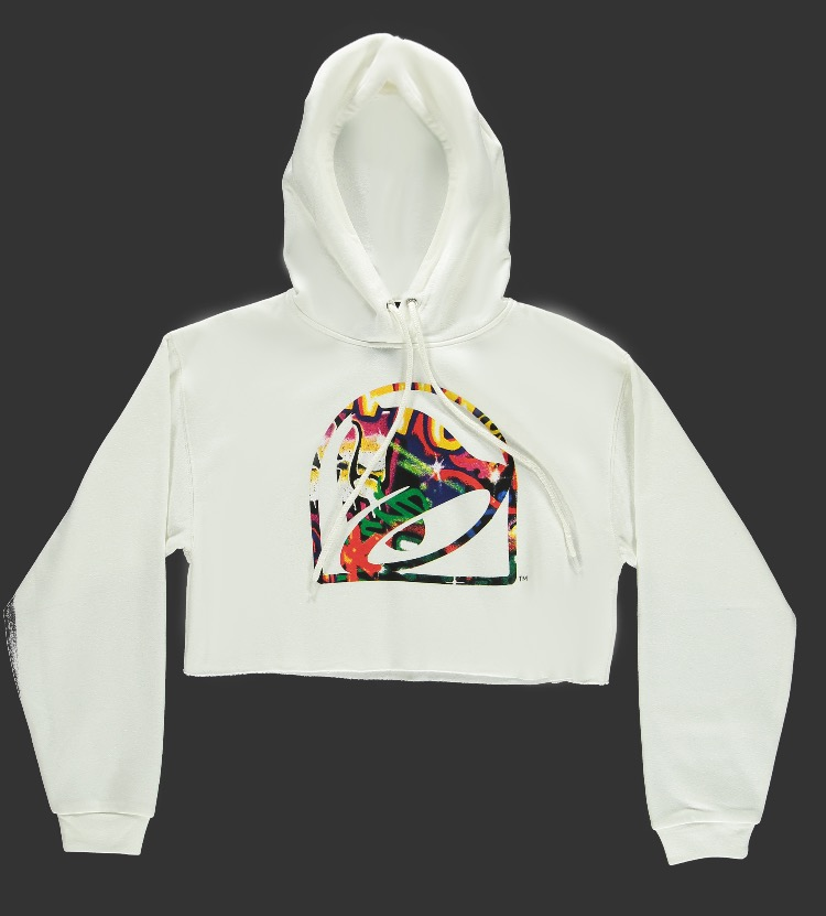 Taco Bell Graphic Cropped Hoodie -- 2290