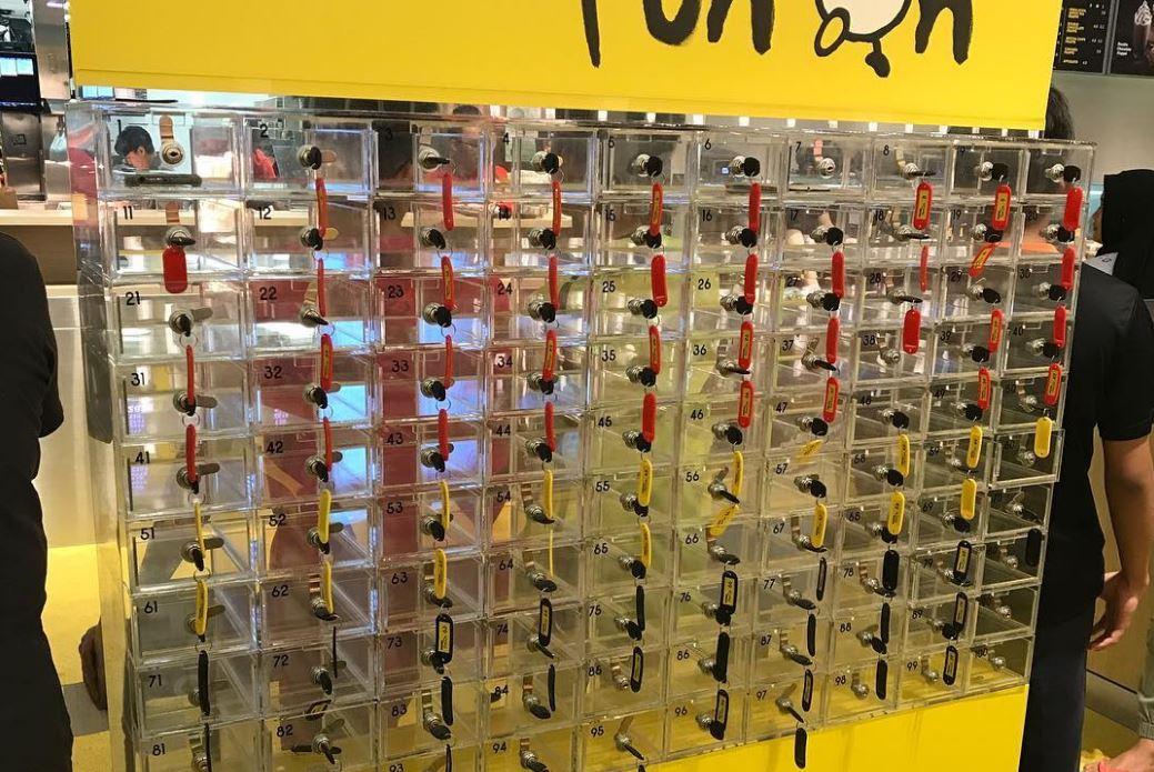mcdonald's phone lockers